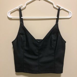 NWT ZARA | Faux leather crop top, size small